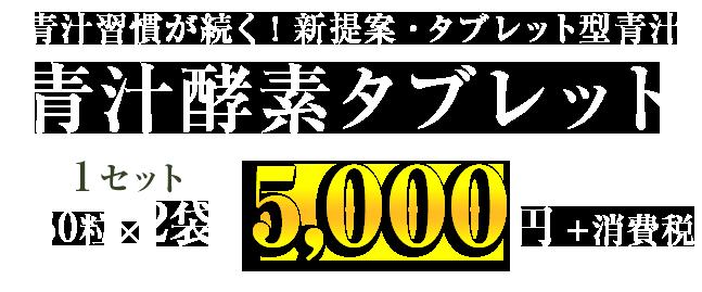 2袋で5,000円(税抜き)