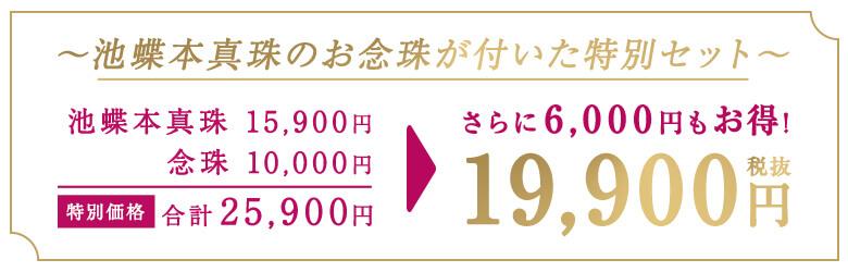 大珠 8~9.5mm 池蝶本真珠4点セット