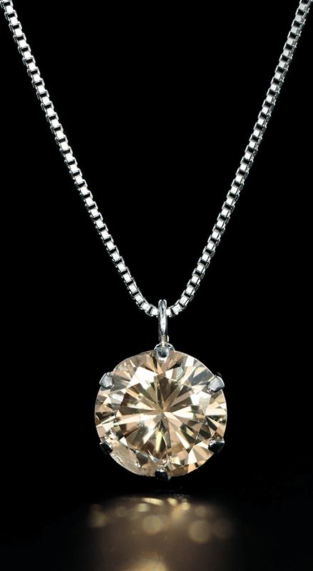 天然ダイヤモンドペンダントネックレス